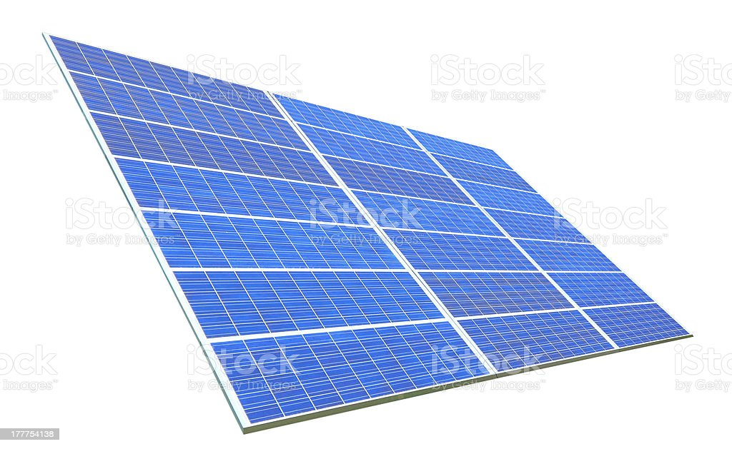 Solar Panel with white background royalty-free stock photo