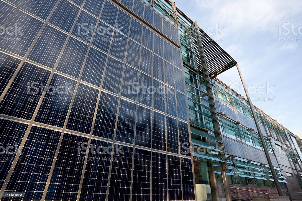 Solar panelled building royalty-free stock photo