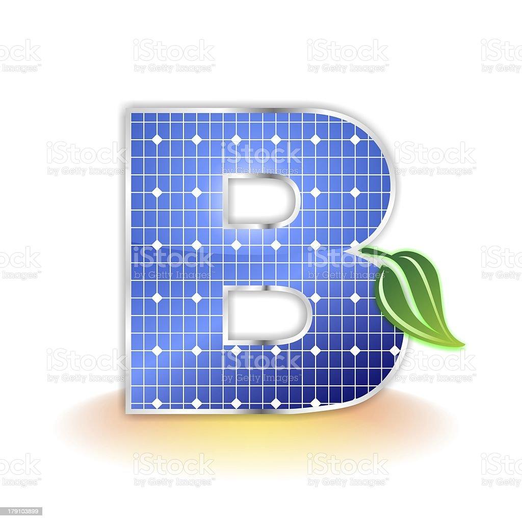 solar panels alphabet letter B royalty-free stock photo