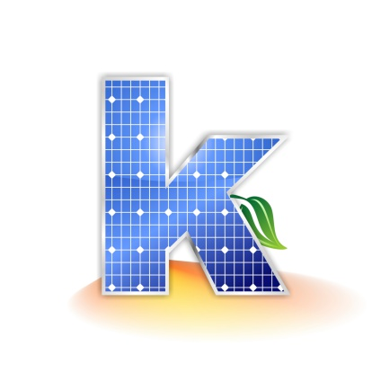 Solar Panels Alphabet Letter K Stock Photo - Download Image Now