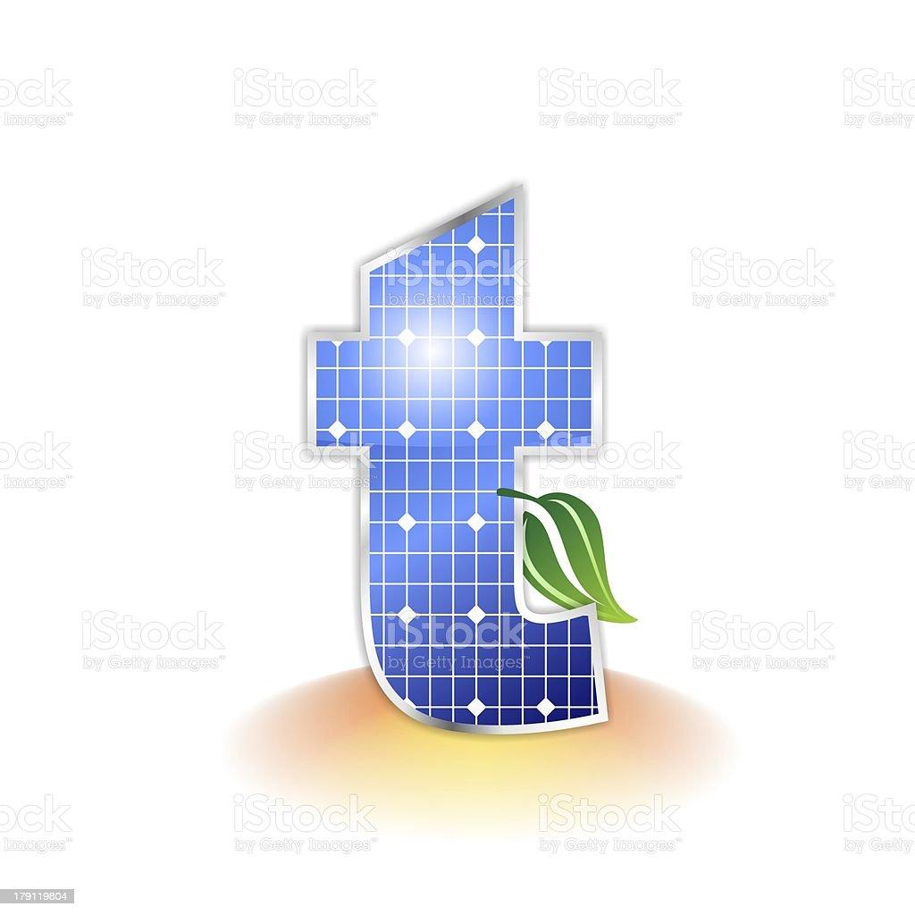 solar panels alphabet letter t stock photo