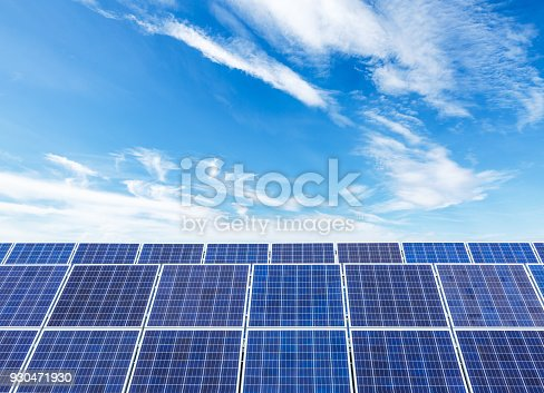 istock solar panels and sky background,green energy 930471930