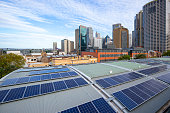 Sydney, a combination of urban architecture and solar panels