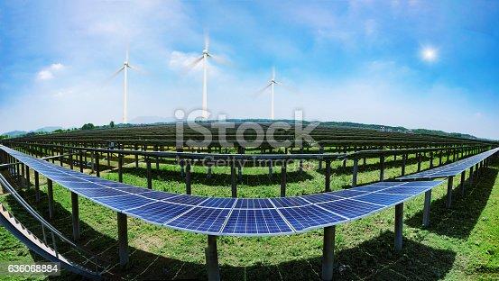 istock solar panels and wind generators 636068884