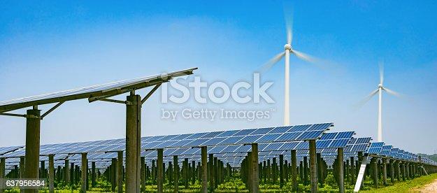 istock solar panels and wind generators 637956584