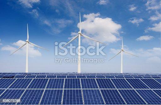 istock solar panels and wind generators 638075288