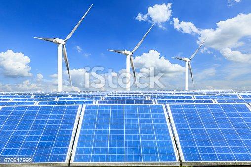 istock solar panels and wind generators 670647992