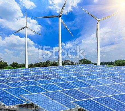 istock solar panels and wind generators scene 670638852