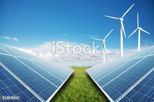 480763537 istock photo solar panels and windmill power plant 513049541