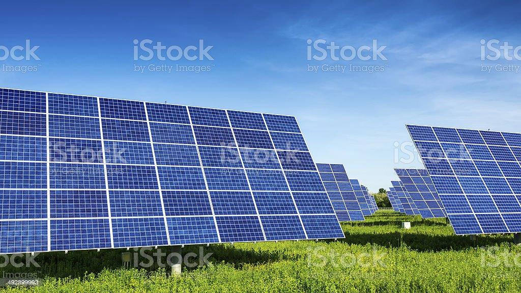 Solar-Panel, wunderschönen, fantastische Landschaften - Lizenzfrei Bildhintergrund Stock-Foto