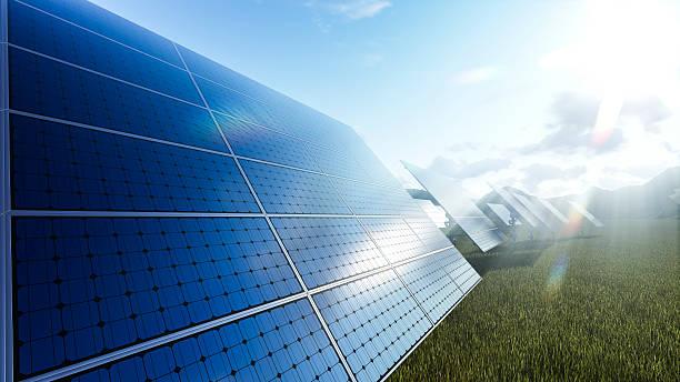 Solarkollektoren field – Foto