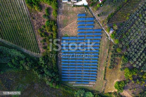 1170098138istockphoto Solar panels fields on the green hills 1028452370