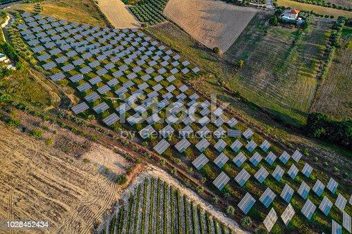 1170098138istockphoto Solar panels fields on the green hills 1028452434