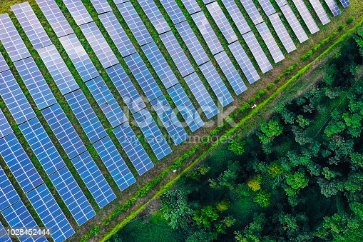 1170098138istockphoto Solar panels fields on the green hills 1028452444