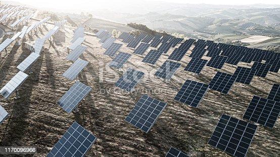 1170098138istockphoto Solar panels fields on the green hills 1170096966