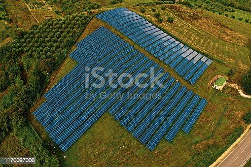 1170098138istockphoto Solar panels fields on the green hills 1170097006
