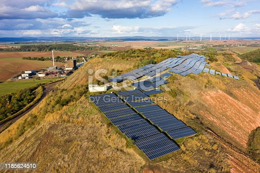 1170098138istockphoto Solar panels from above, Germany 1185624510
