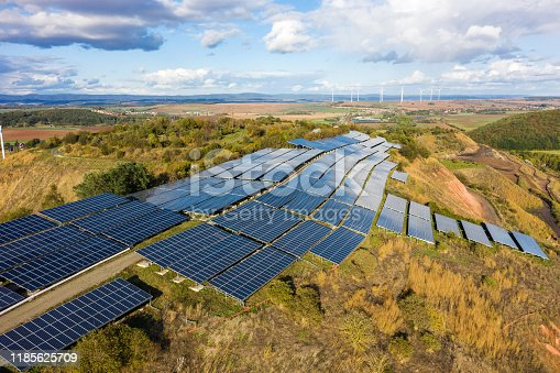 1170098138istockphoto Solar panels from above, Germany 1185625709