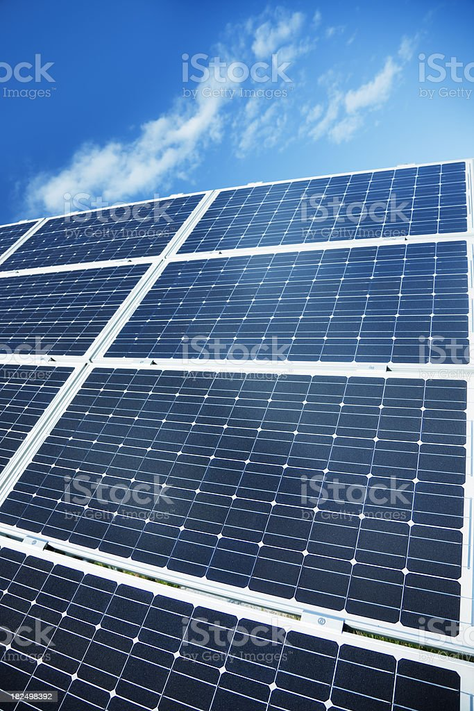 Solar Panels, Green Energy royalty-free stock photo