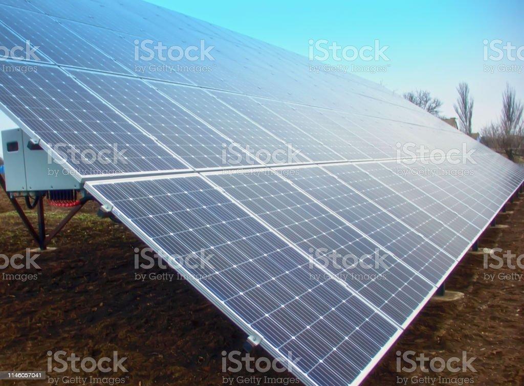 solar panels. Green energy. Production of solar energy. Active solar....