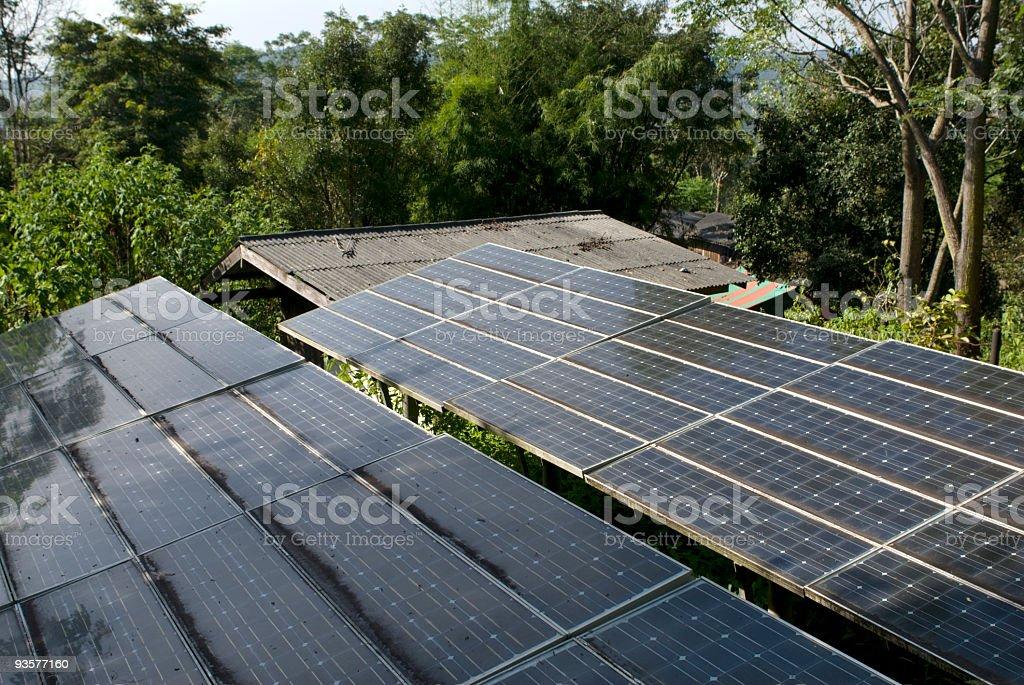 Solar Panels Horizontal royalty-free stock photo