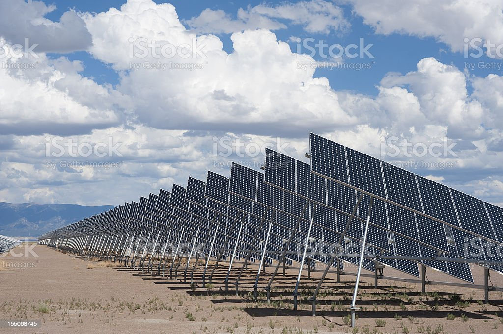 Solar Panels in a Power Plant royalty-free stock photo