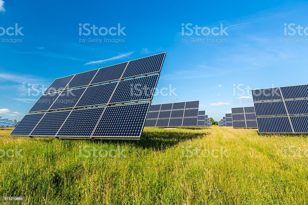 Solar Panels in Germany stock photo