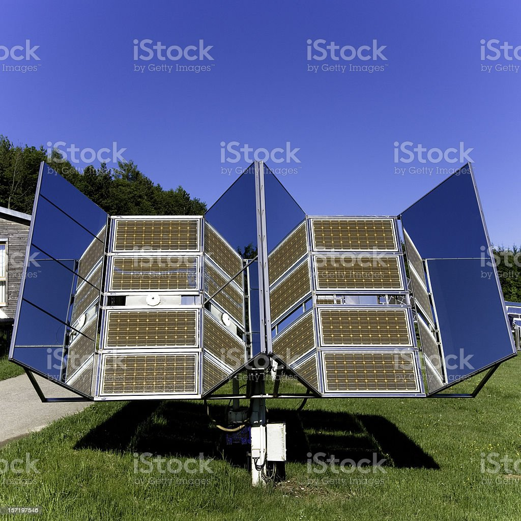 Solar Panels in Nature 03 royalty-free stock photo