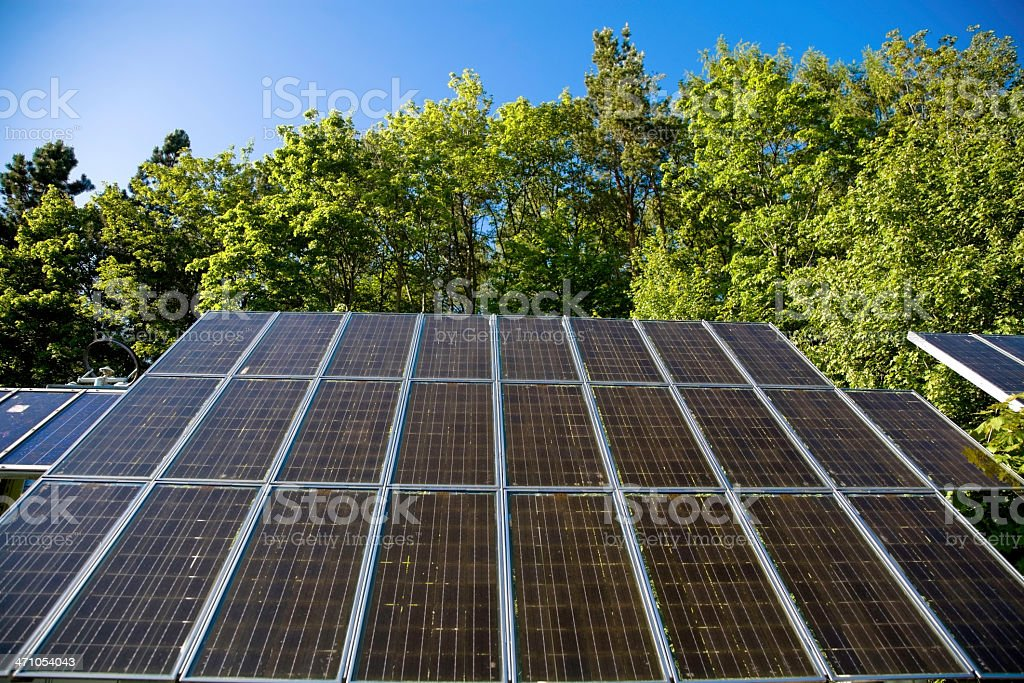 Solar Panels in Nature 05 royalty-free stock photo