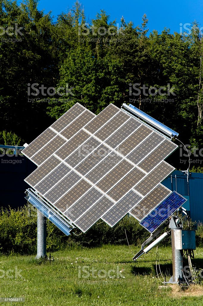 Solar Panels in Nature 09 royalty-free stock photo
