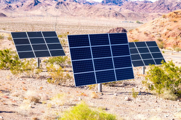 solar panels in nevada-usa - clark county nevada stock pictures, royalty-free photos & images
