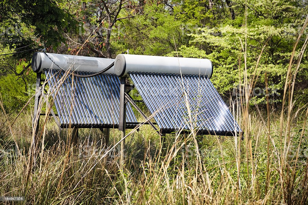 Solar panels in rural Namibia royalty-free stock photo