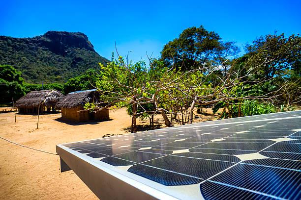 Solarkollektoren In ländlichen Zome – Foto