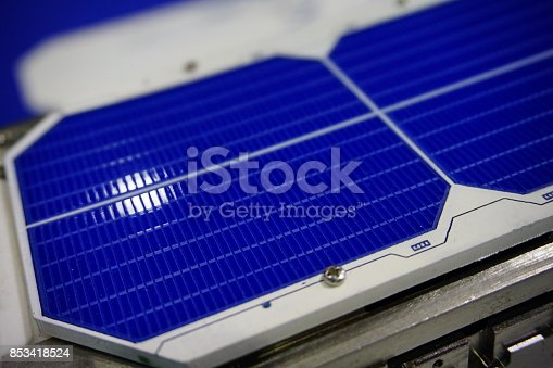 istock Solar panels in sunlight 853418524