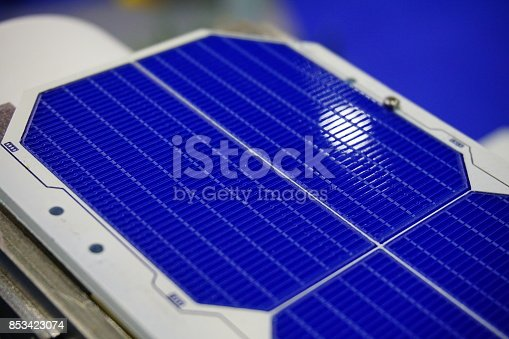 istock Solar panels in sunlight 853423074