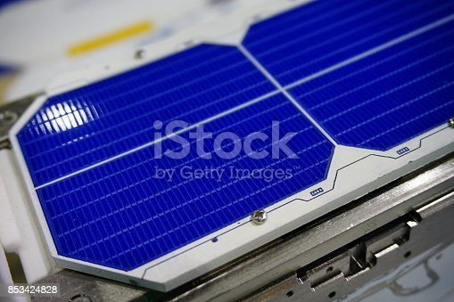 istock Solar panels in sunlight 853424828