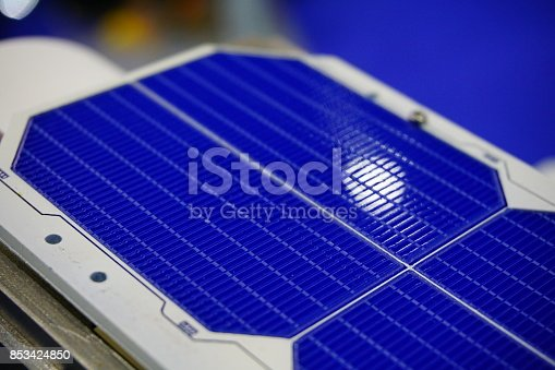 istock Solar panels in sunlight 853424850