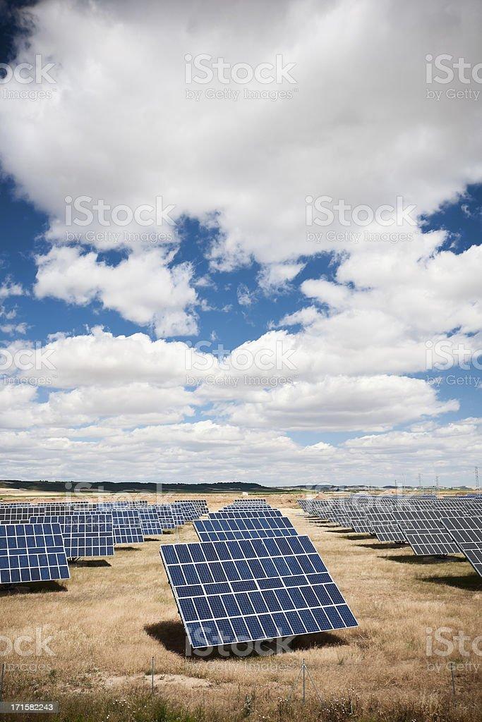 Solar panels installation royalty-free stock photo