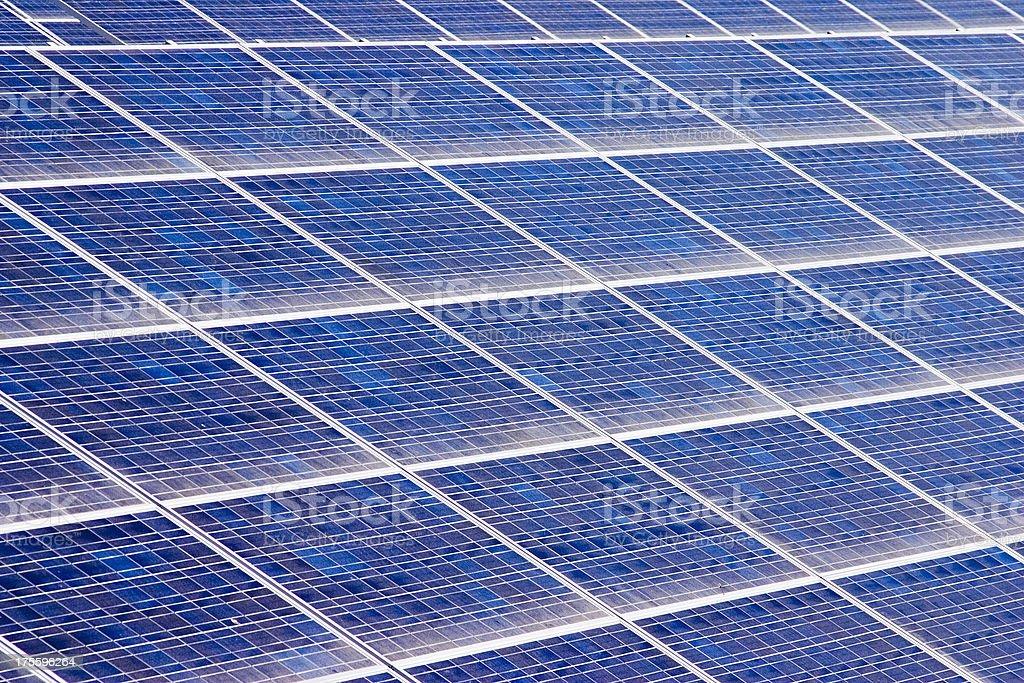 Solar Panels - Large Blue Array royalty-free stock photo