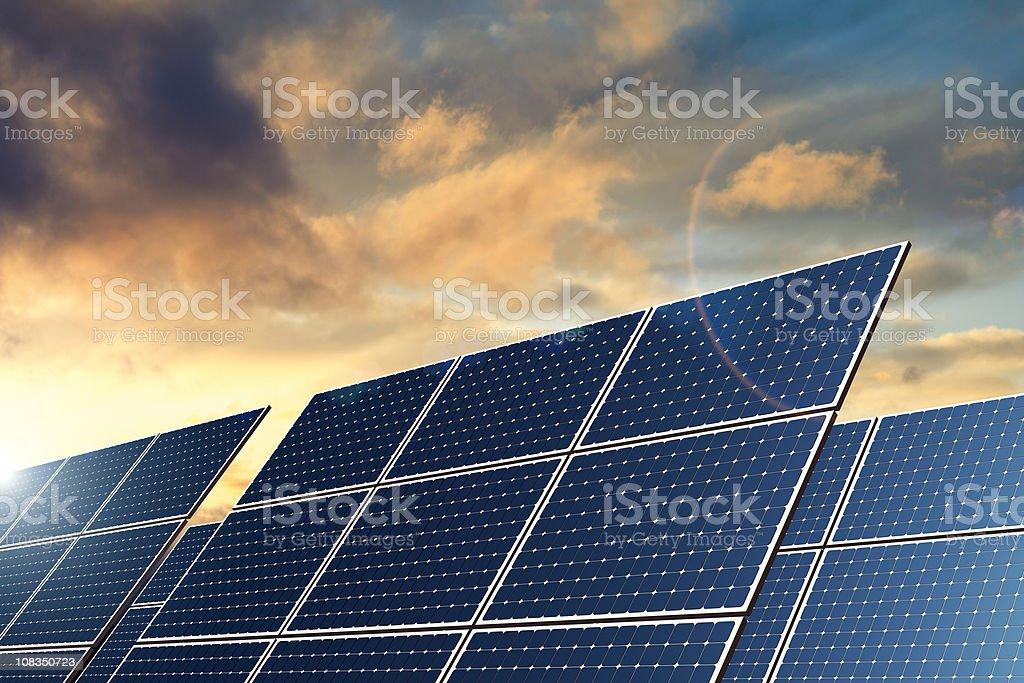 Solar Panels - Natural Energy (XXL) stock photo