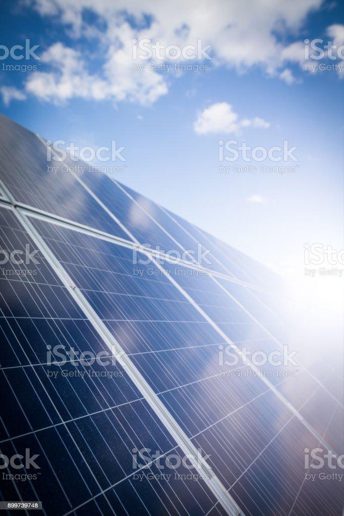 Solar panels outdoor stock photo