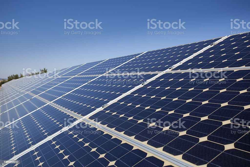 Solar panels - Royalty-free Alternative Energy Stock Photo