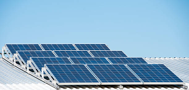 Solar panels. stock photo