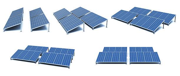 pannelli solari  - pannelli solari foto e immagini stock