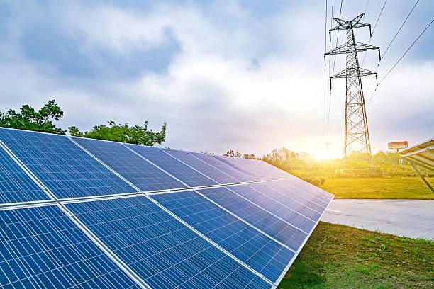 solarkollektoren  - solarstrom stock-fotos und bilder
