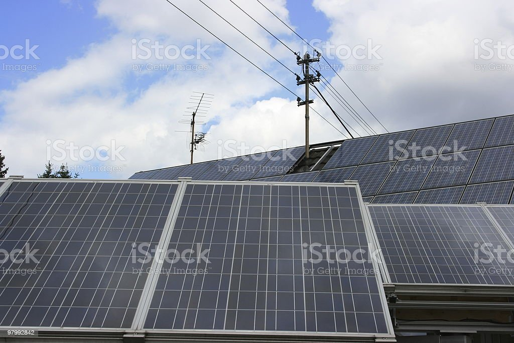 solar panels royalty free stockfoto