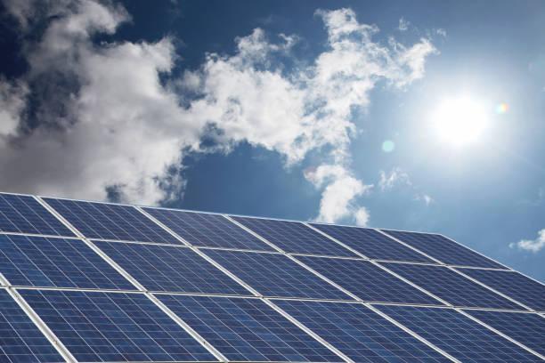 太陽能電池板可再生能源 - 太陽能電池板 個照片及圖片檔