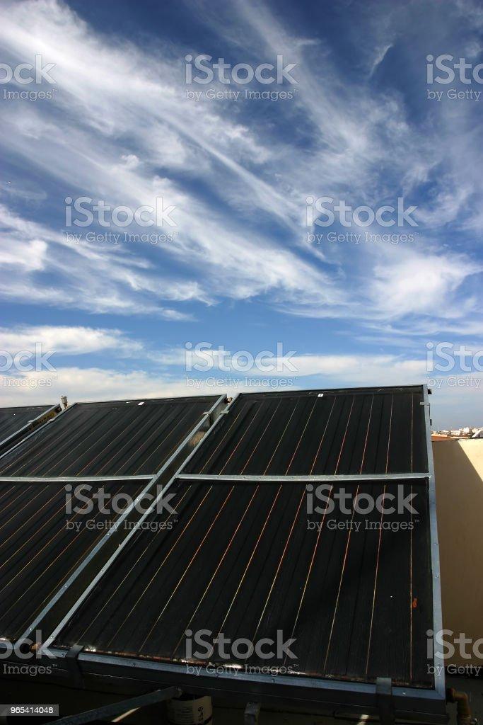 Solar panels renewable energy zbiór zdjęć royalty-free