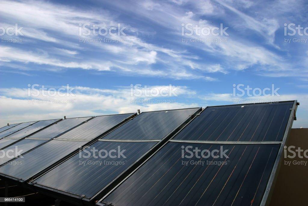 Solar panels renewable energy royalty-free stock photo