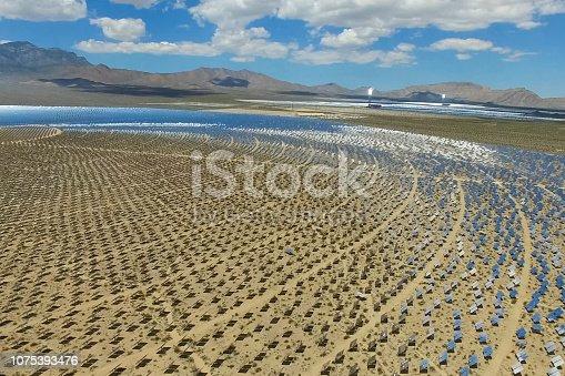 istock Solar panels. Solar energy An alternative source of energy is so 1075393476
